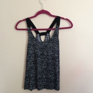Gap Racerback Flowy Black and White Tanktop